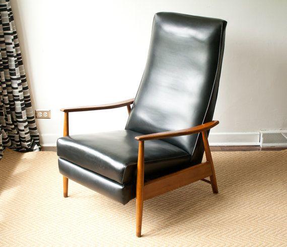 Milo Baughman Recliner Lounge Chair Mid Century Modern Vintage Danish Modern Moder Mid Century Lounge Chairs Mid Century Modern Chair Mid Century Recliner