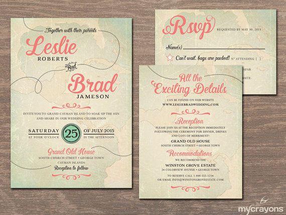 20 Printable Travel Theme Wedding Invitations Invitation