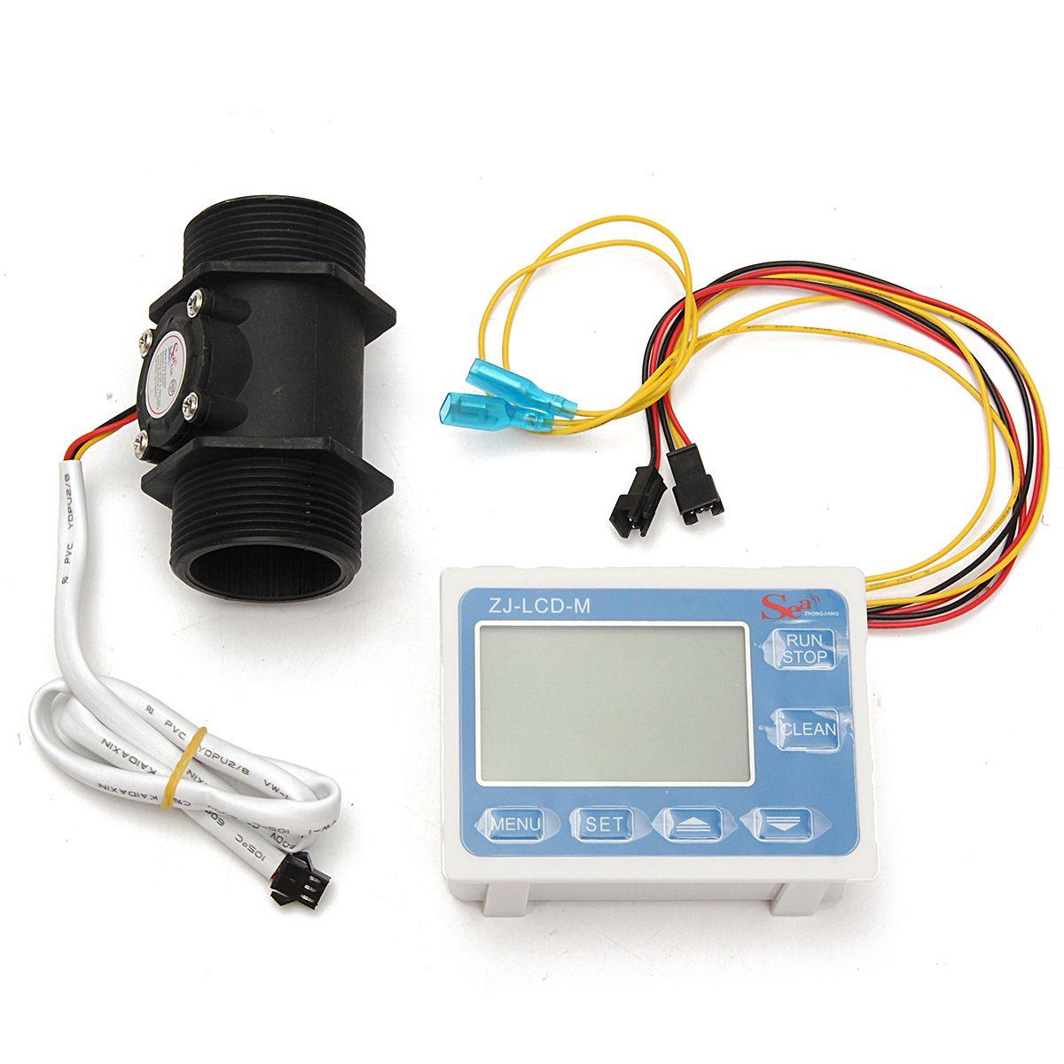 medidor de sensor de flujo de agua de 1120l/min y digital