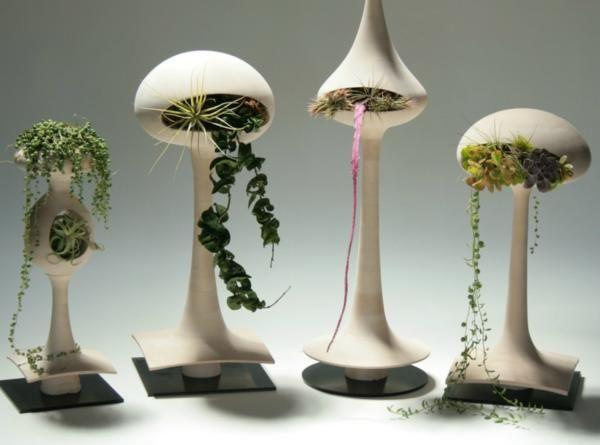 Hängende Blumentöpfe - coole Pflanzenideen für den Innenraum - indoor garten wohlfuhloase wohnung begrunen