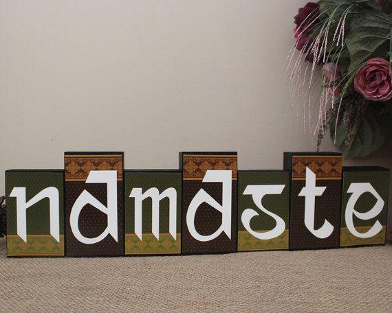 Namaste Sign, Wood Decor, Namaste Wood Sign, Sanskrit Namaste, Indian Home  Decor, Mantle Decoration, Namaste Wooden Sign, Yoga Studio Decor