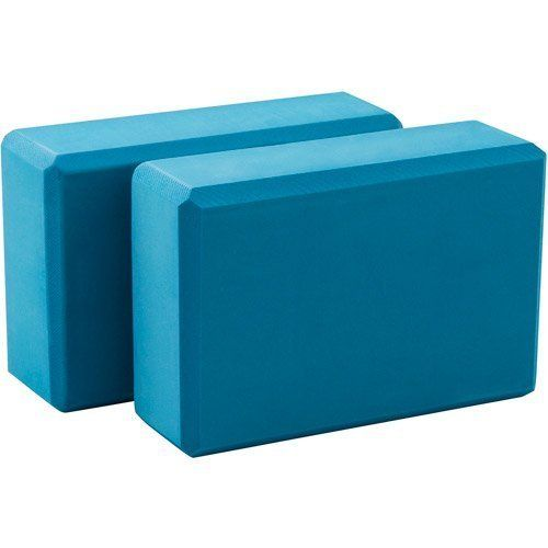 Lotus Yoga Block (Blue) Assists you in holding yoga poses Exercise
