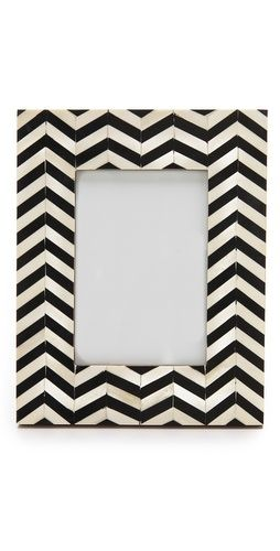Chevron Inlay Picture Frame Boutique Gift And Detail