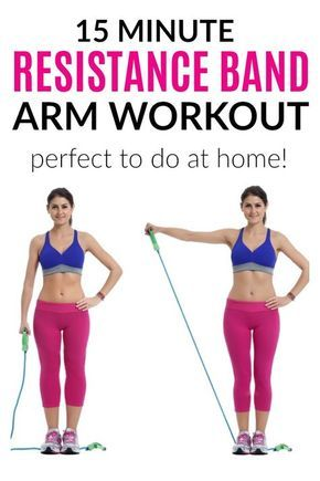 Resistance Band Arm Workout – 6 Best Resistance Band Exercises To Tone And Strengthen Your Arms