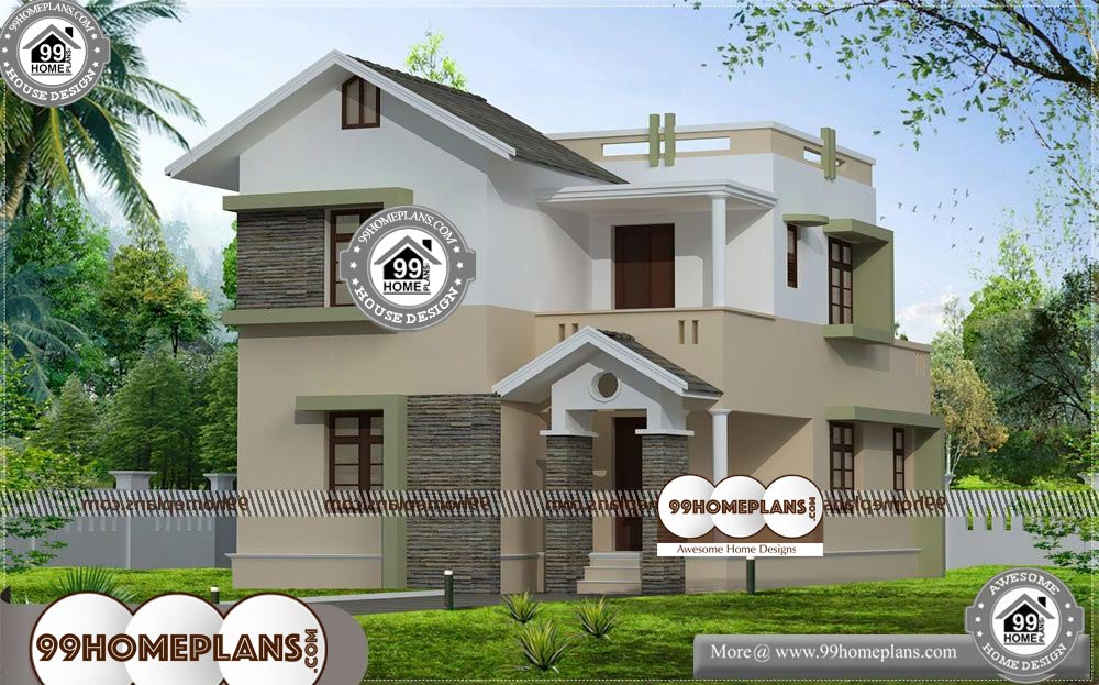 Indian Style Home Design Plans with Two Story House With ...