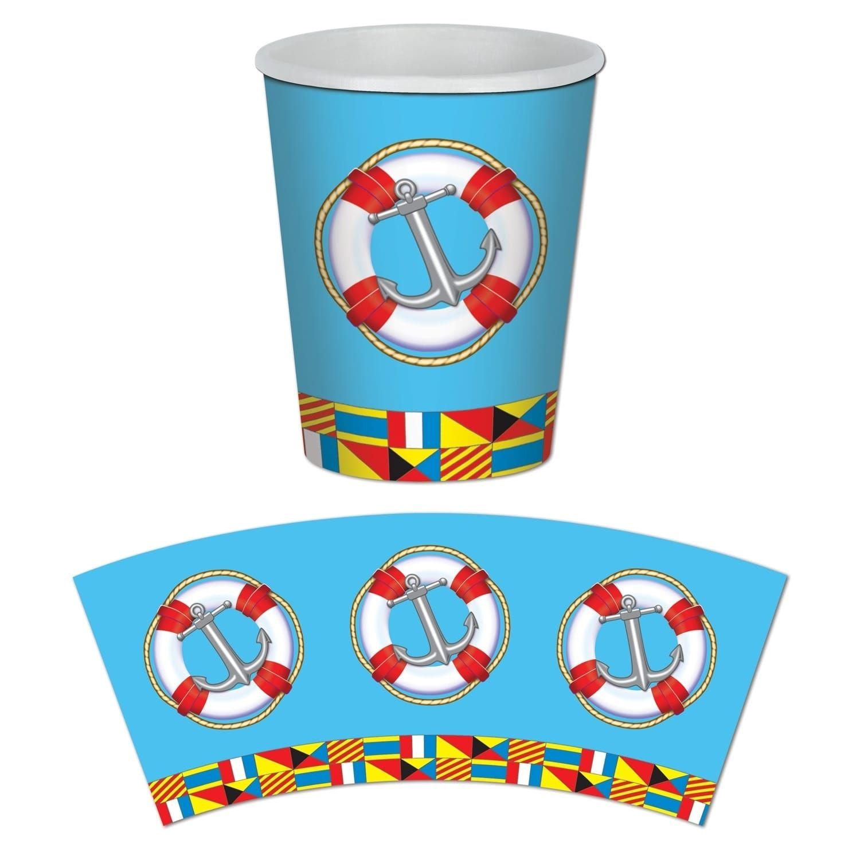 Nautical Beverage Napkins 16 Pack Nautical Cruise Party Birthday Decoration