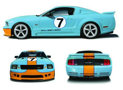 This Mustang Saleen Extreme Pays Homage To The Ford Gt40 The Legendary Le Mans Winner Of 1965 1968 And 1969 Years This Is Saleen Mustang Ford Racing Mustang