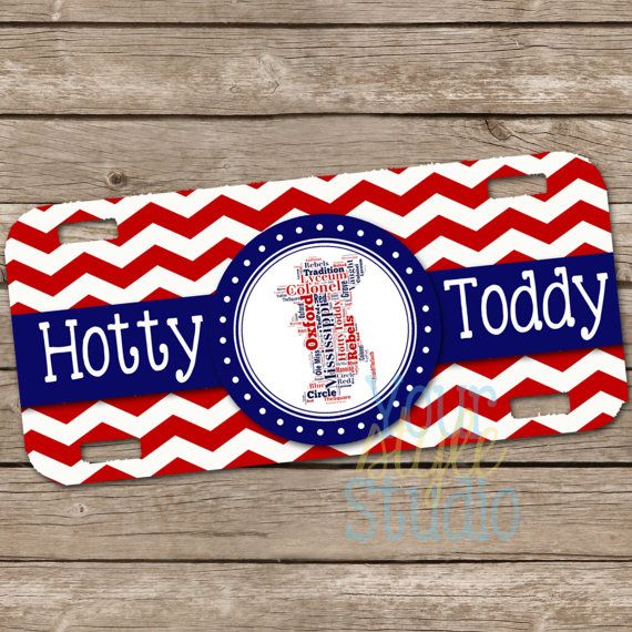 Personalized License Plate Car Tag Ole Miss By Yourstylestudio