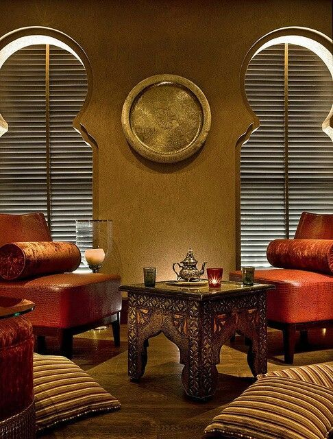 extraordinary the moroccan lounge their house museum | Moroccan glam decor. Leather upholstery, a handcarved ...