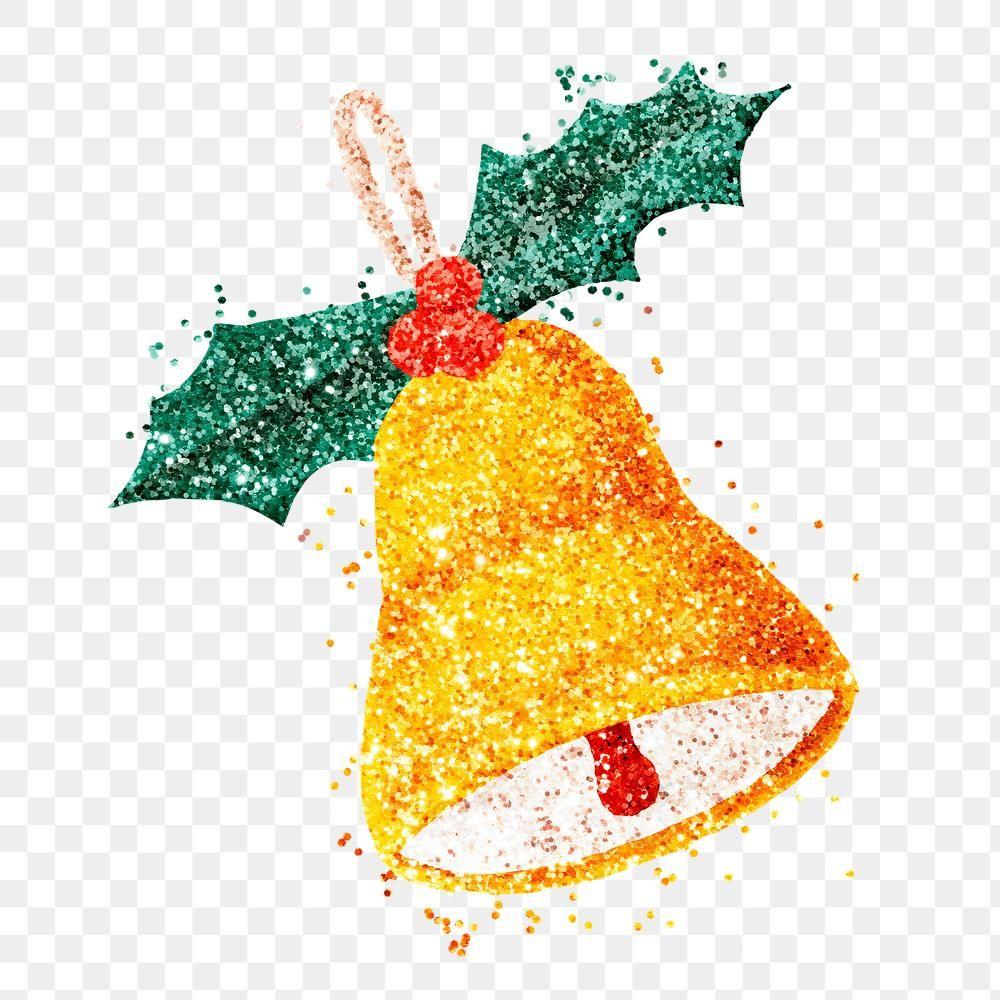 Christmas Golden Jingle Bell Png Sticker Glitter Free Image By Rawpixel Com Jingpixar Christmas Leaves Glitter Free Christmas