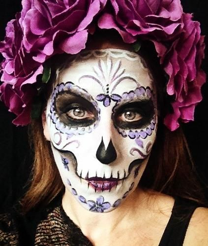 halloween candy skull face painting - Halloween Skull Face Paint Ideas