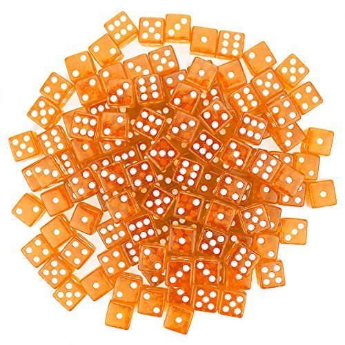 Brybelly 100 Dice, 16mm, Orange Brybelly