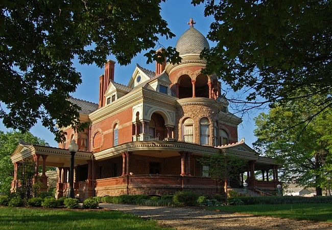 Seiberling Mansion Indiana Mansions Victorian Homes Victorian Style Homes