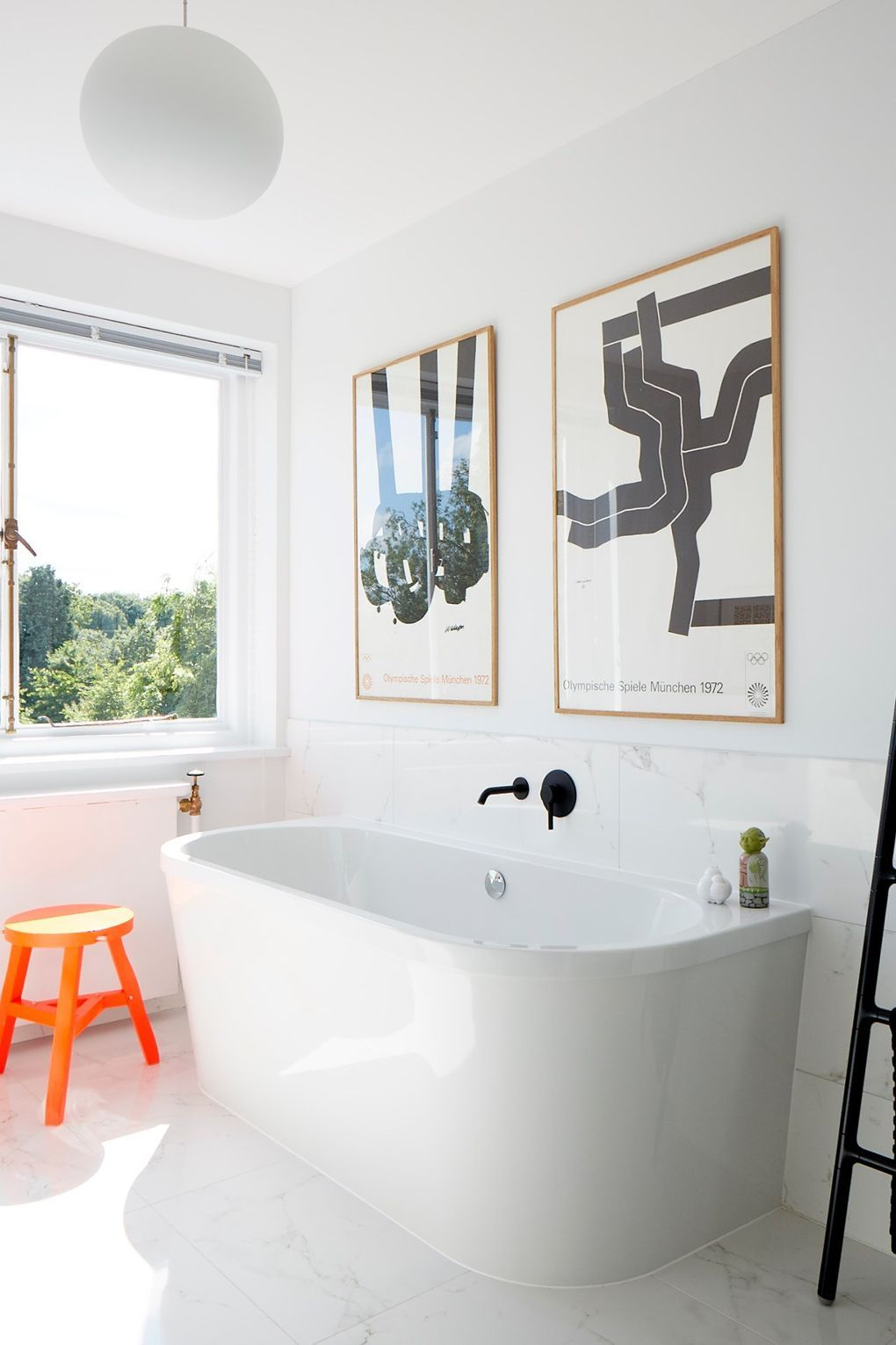 At Home: A modern mid-century house | Bathrooms & Powder Rooms ...