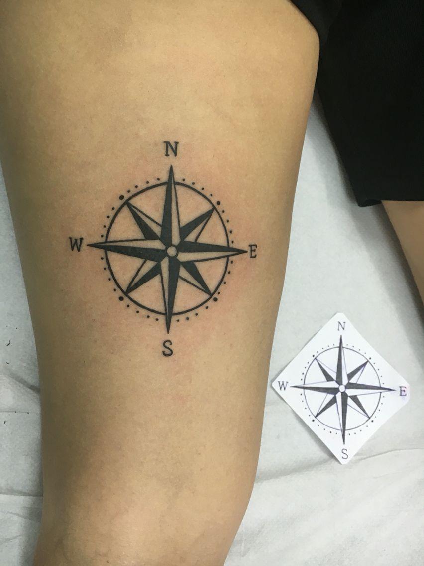 Tatuaje Pierna Flor Del Viento Tatoos Pinterest Left Arm