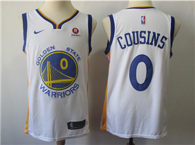 New Golden State Warriors DeMarcus Cousins #0 Basketball Player Jerseys white