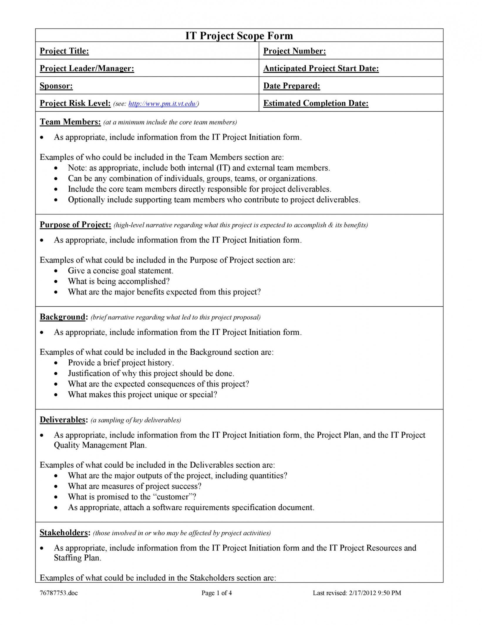 Get Our Example Of Project Management Scope Statement Template For Free Statement Template Proposal Templates Project Management Templates