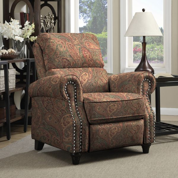 ProLounger Paisley Push Back Recliner Chair, Brown, Size Standard  (Polyester). Chairs For Living RoomLiving ... Part 91