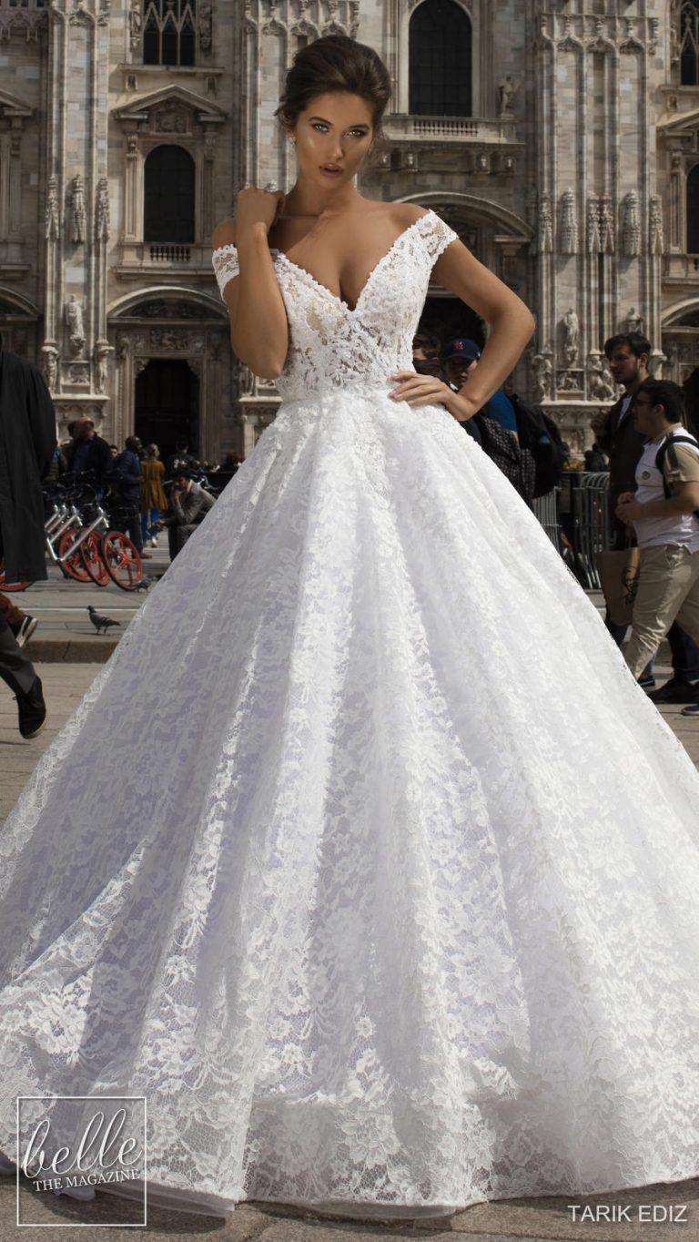 Tarik Ediz Wedding Dresses 2019 Belle The Magazine A Line Wedding Dress Tea Length Wedding Dress Wedding Dresses For Girls