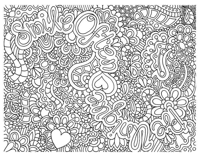 coloriage anti stress jardin a imprimer