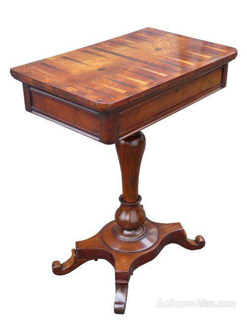 10280902124b William IV Mahogany Games Table - Antiques Atlas