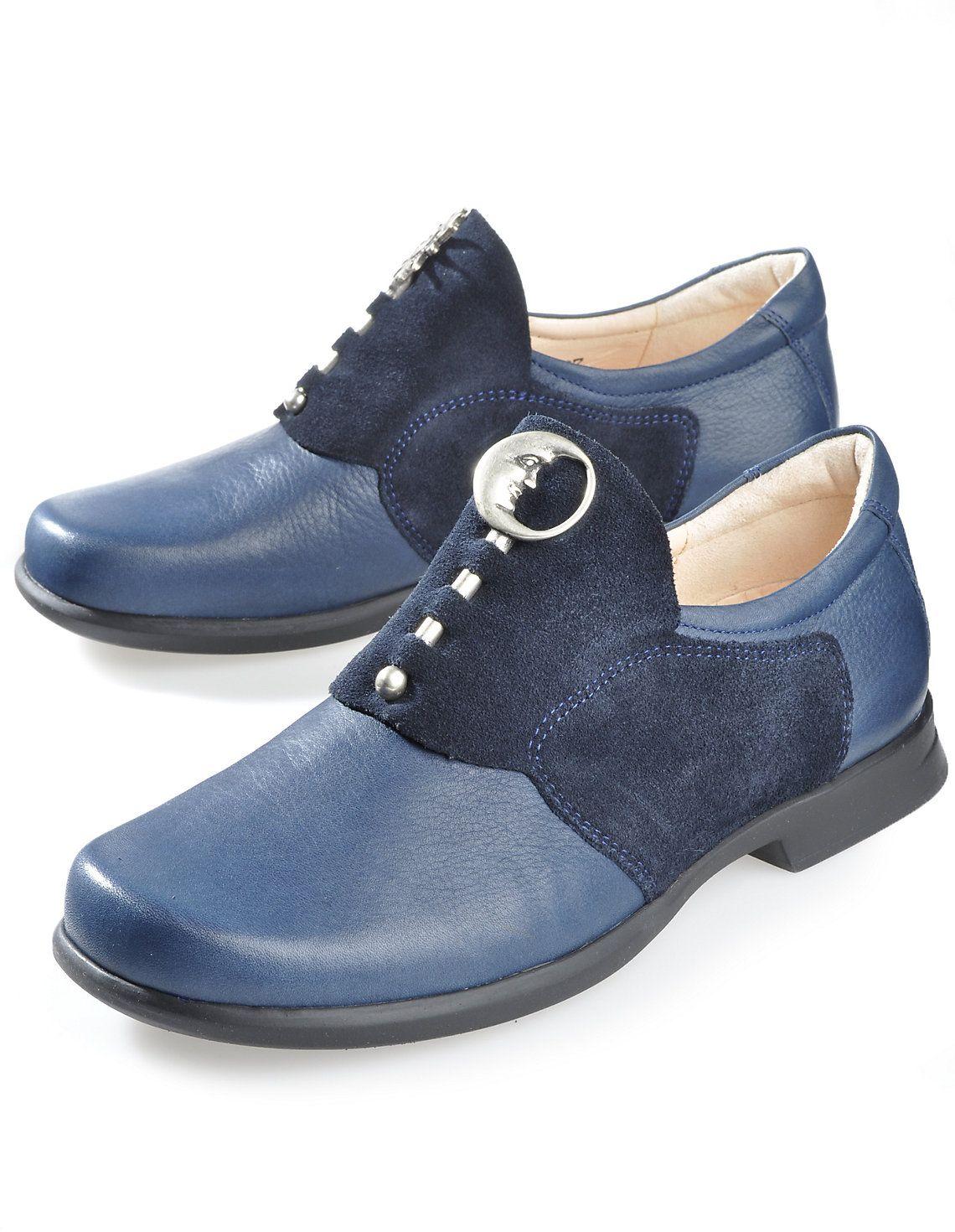 Think  Sonne-Mond , dunkelblau - Slipper - Deerberg   Schuhe   Shoes ... 3d4e3b787d