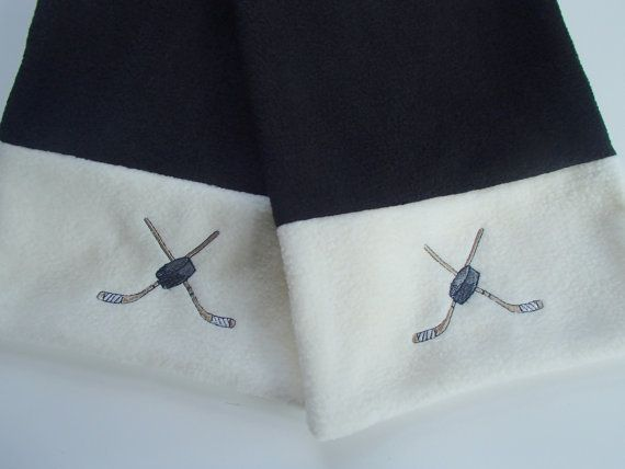 Hockey Fan Handmade Fleece Scarf crystalthreads on Etsy.