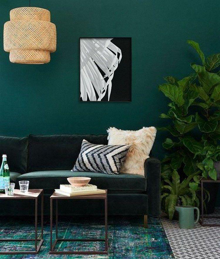 Palm Wing Feather Tropical Print Minimalist Print Botanical Print Scandinavian Decor Black White Photography Palm Wing Palm Feather Diseno De Interiores Decoracion De Unas Sofa De Terciopelo Verde #teal #and #black #living #room #ideas