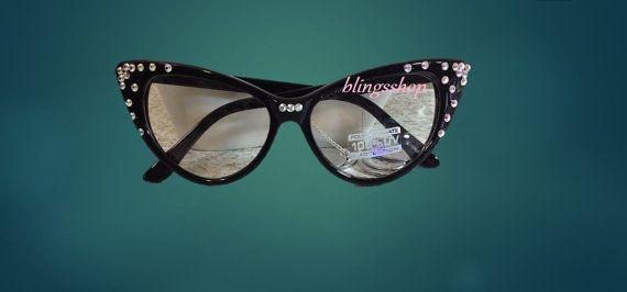 5960304dd607  35.00 Etsy Cat Eye Eye Glasses With Swarovski Crystals-Reading Glasses  Blings Cat Eye Glasses-Luxe Bling Reading Glasses