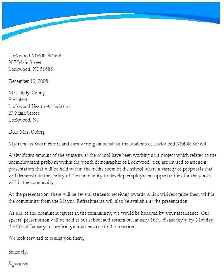 Formal Invitation Letter For School Event Di 2020