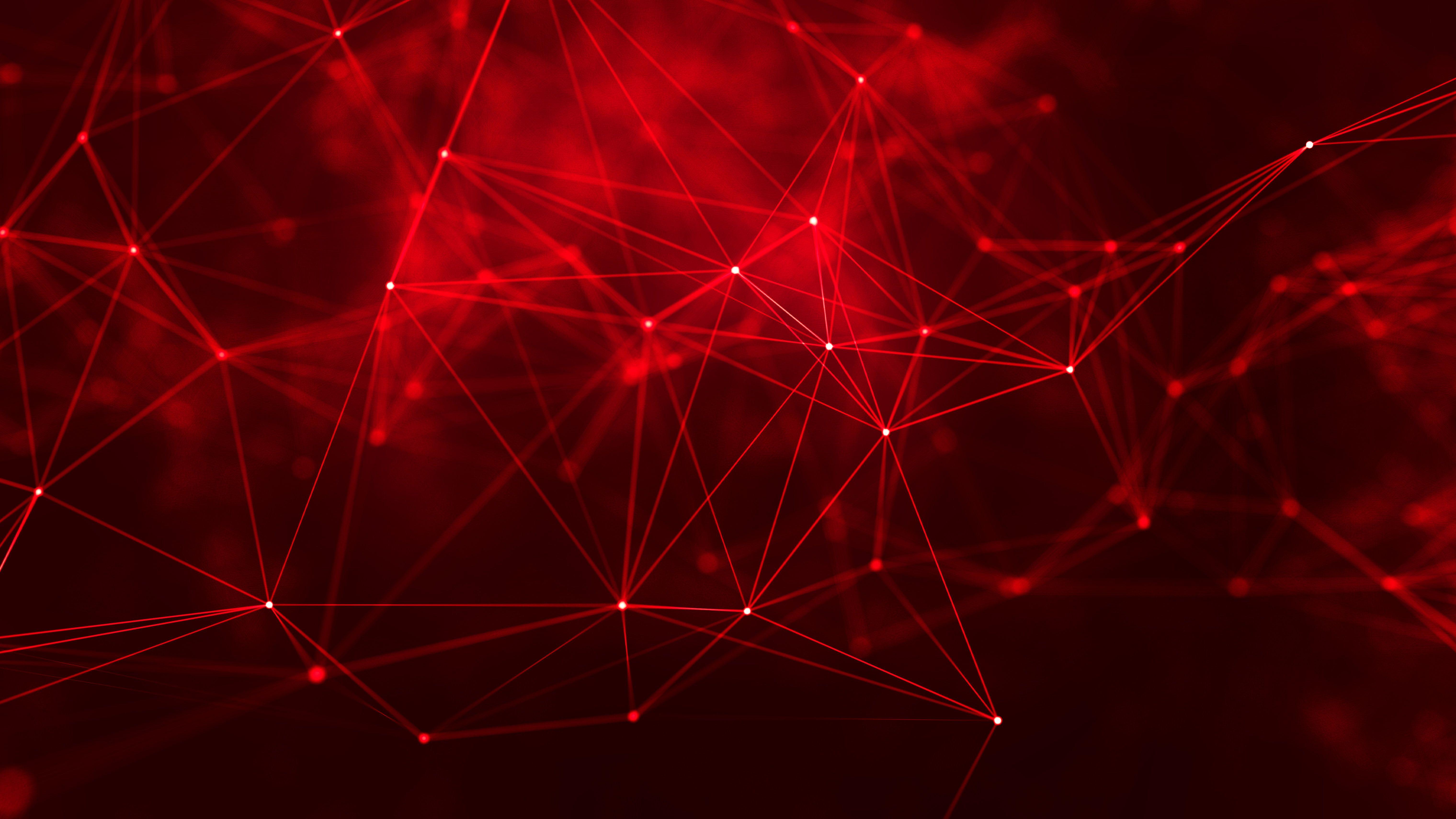 Geometry Cyberspace Digital Art Red Lines Abstract 5k Wallpaper Hdwallpaper Desktop In 2020 Creative Art Abstract Red Background