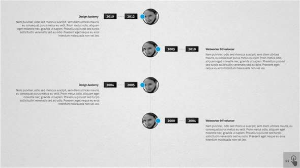 Timeline Presentation UI Pinterest Business presentation and - keynote timeline template