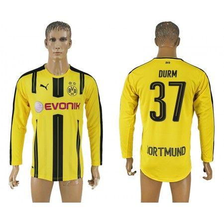 BVB 16-17 #Durm 37 Hemmatröja Långärmad,304,73KR,shirtshopservice@gmail.com