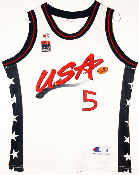 Champion NBA USA Basketball Team #5 Grant Hill Trikot/Jersey Size 40 - Größe M - 69,90€ #nba #basketball #trikot #jersey #etsy #sport #fitness #fanartikel #merchandise #usa #america #fashion #mode #collectable #memorabilia #allbigeverything