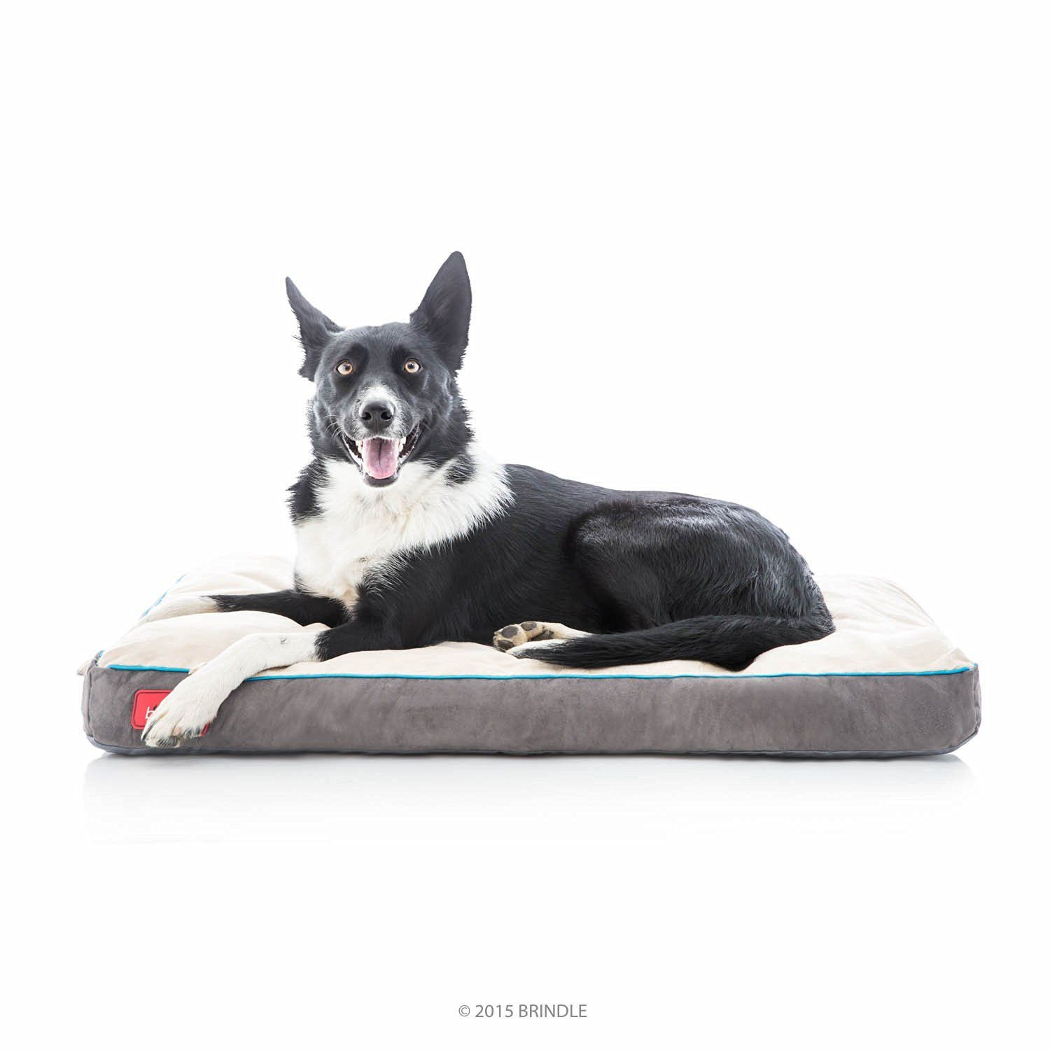 Brindle soft memory foam dog bed with