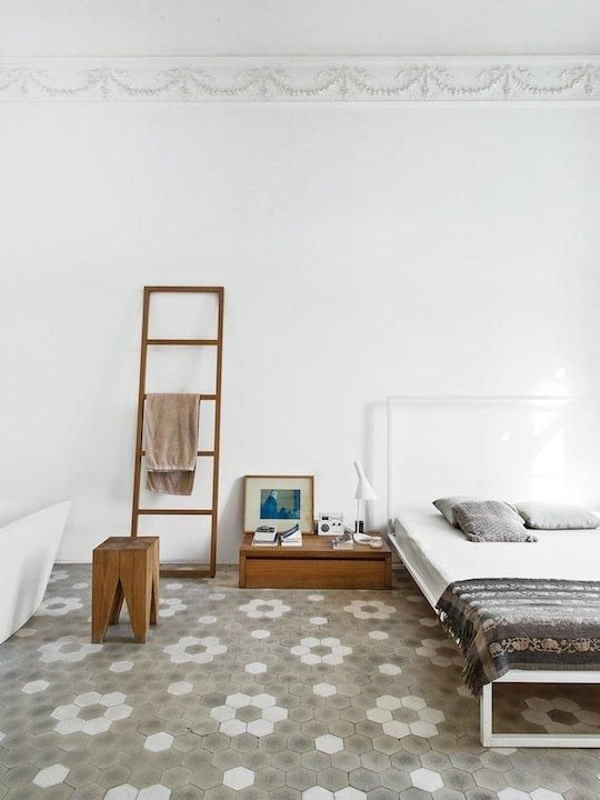 Unexpected Flooring: Tile in the Bedroom