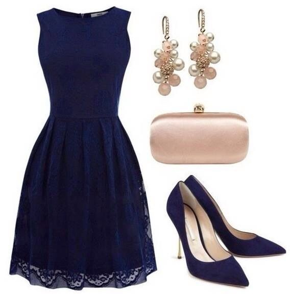A very stylish dark blue dress (mit Bildern) | Modestil ...
