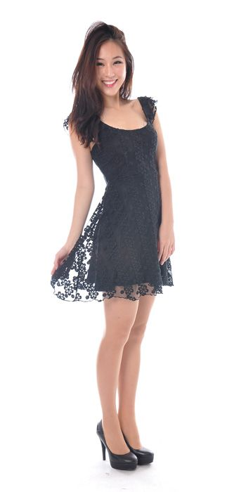 Lizzie Lace Skater Dress S$31 from: Chitzabelle