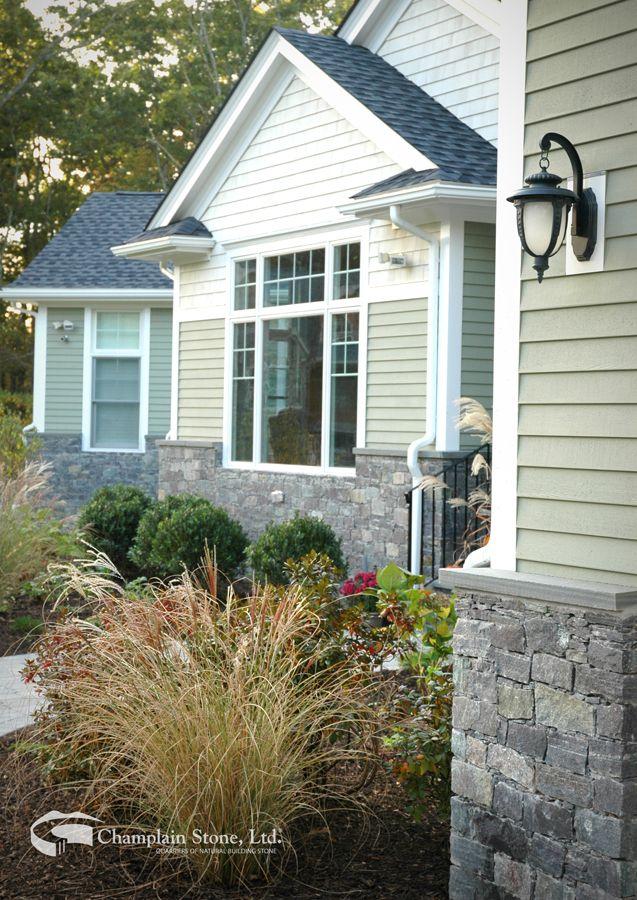 Corinthian Granite Ledge Stone Private Residence In New York Ledgestone Dream House Outdoor Decor
