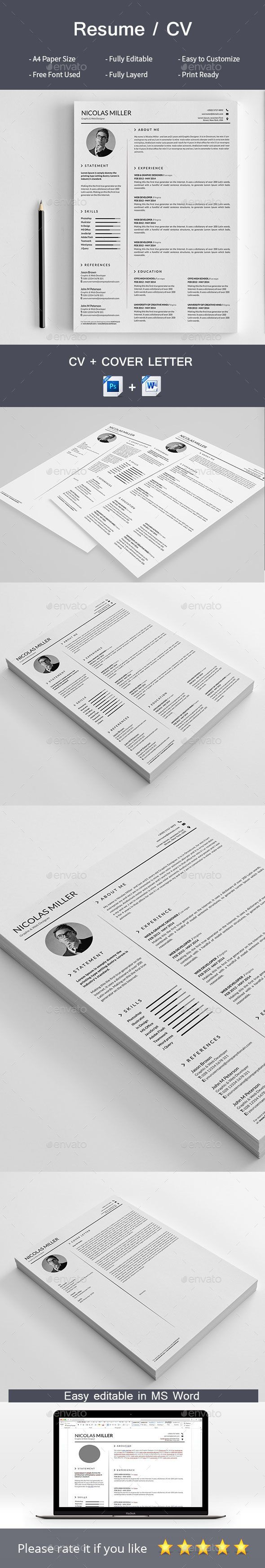 How To Make A Strong Resume Resume  Pinterest  Template Resume Cv And Simple Resume Template