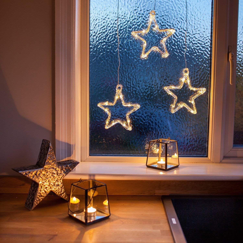 Weihnachtsdeko Led Stern.Led Stern Fensterdeko Weihnachtsdeko Mit Timer Batteriebetrieben