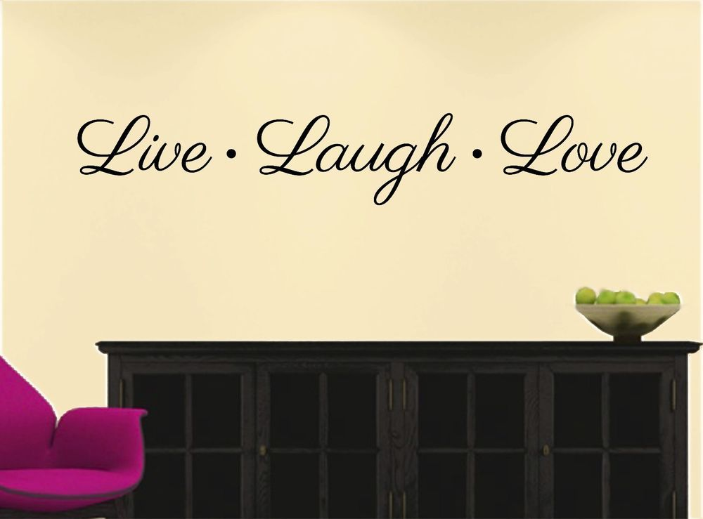 LIVE LAUGH LOVE ~ WALL DECAL Quote * Vinyl Lettering STICKER Decor ...