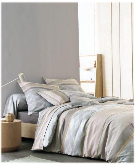 grande marque linge de lit blanc des vosges Linge de lit Blanc des Vosges Modèle Riviera naturel Disponible  grande marque linge de lit blanc des vosges