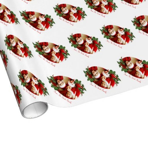 Family Photo Customizable Christmas Wrapping Paper Gift wrapping