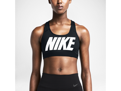 nike ardila - Nike Pro Classic Logo Women's Sports Bra [ BLACK / VIOLET ...