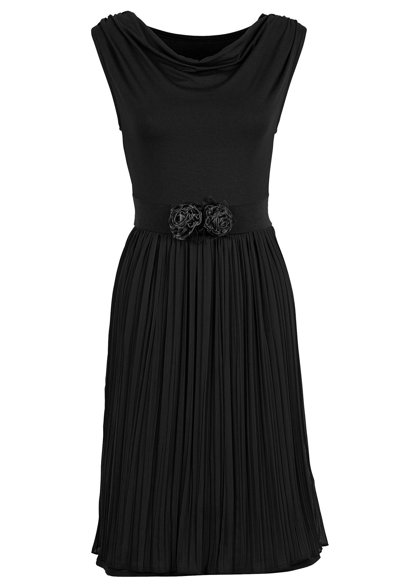 Jerseykleid mit Herzen  Kleider, Schwarzes kleid und Shirtkleid