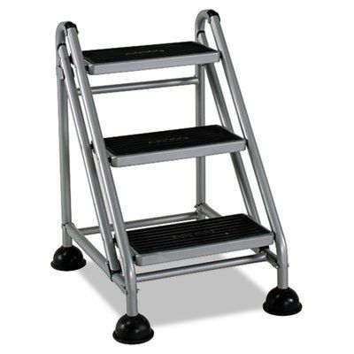 Cosco 11 834ggb1 Three Step Rolling And Folding Step Ladder Grey Step Stool Cosco Step Ladders
