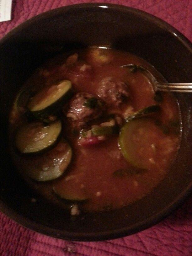 Meatball soup♥♡♥