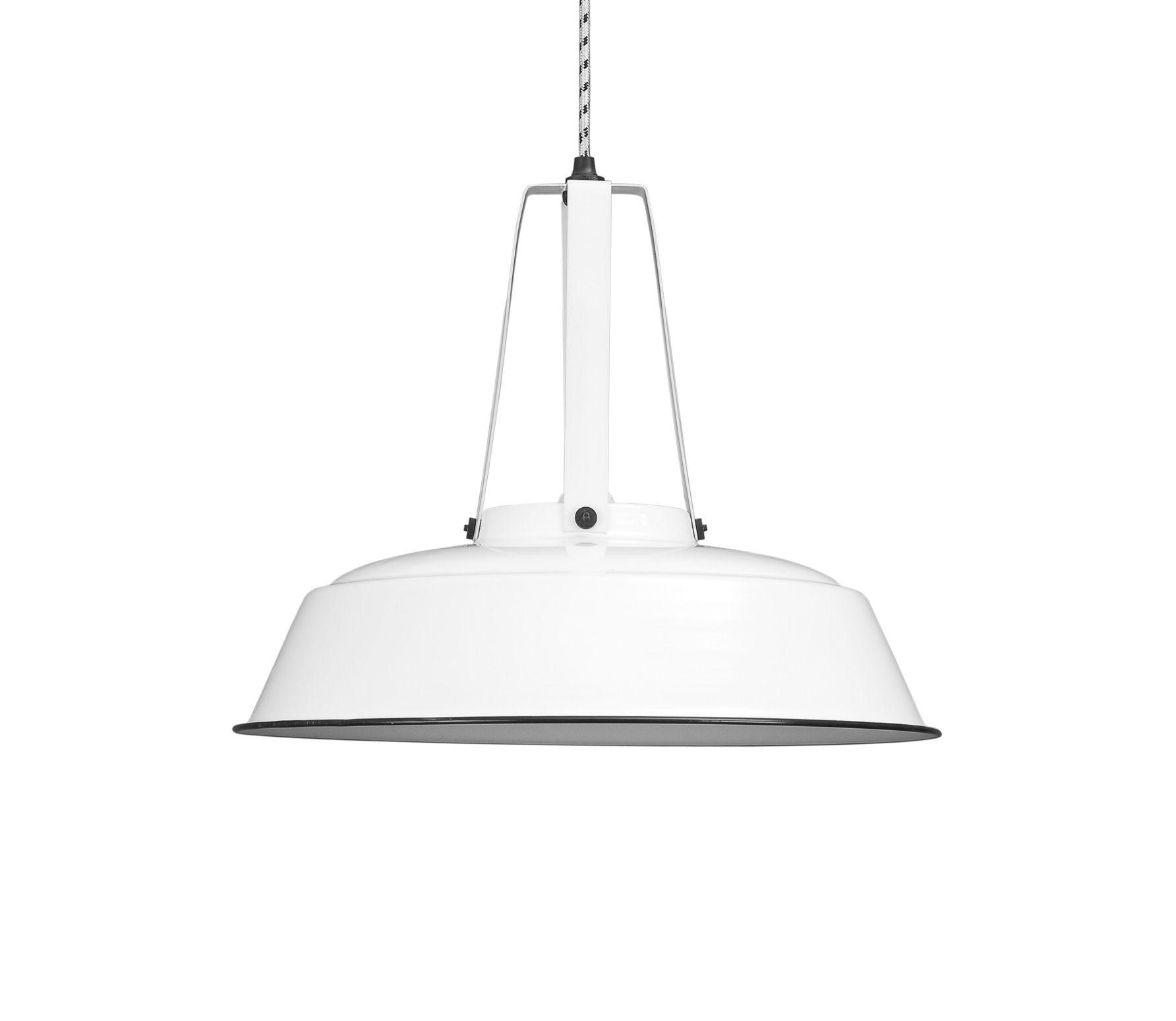 witte industriele lamp - basiclabel