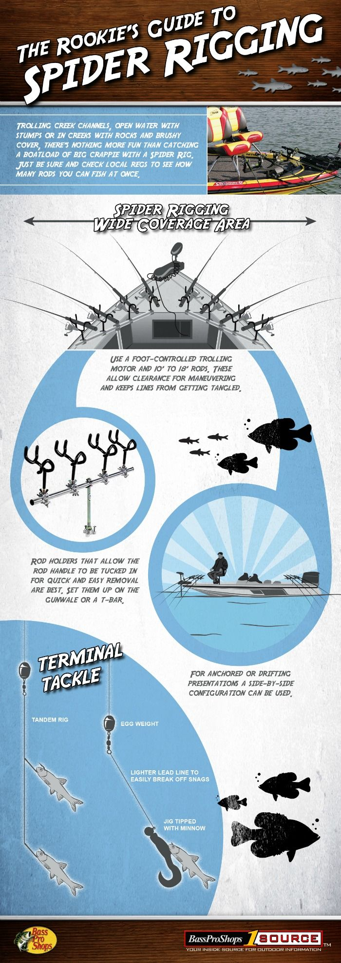 The rookie 39 s guide to spider rigging and the fastest for Spider rigs for crappie fishing